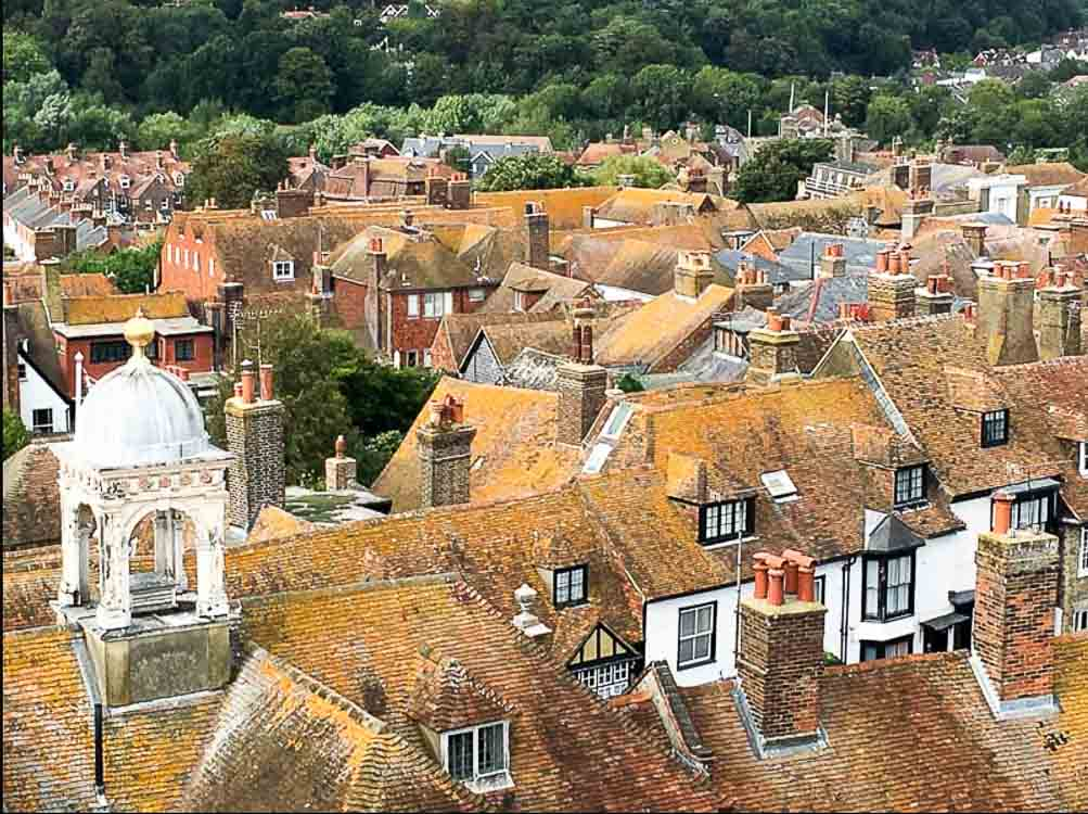Rye, East Sussex - view from St Mary's church