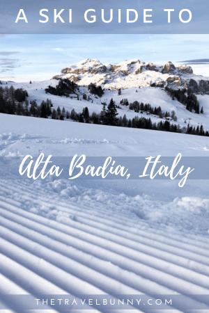 Groomed Ski slope Alta Badia