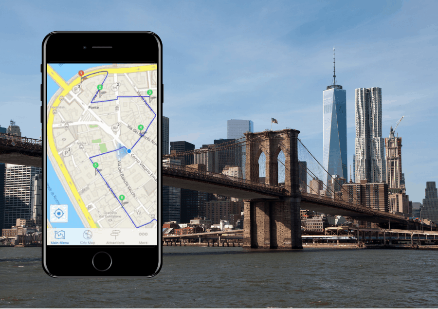 New York with i-phone map