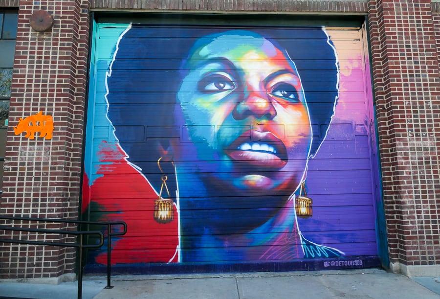 Mural of Nina Simone in Denver