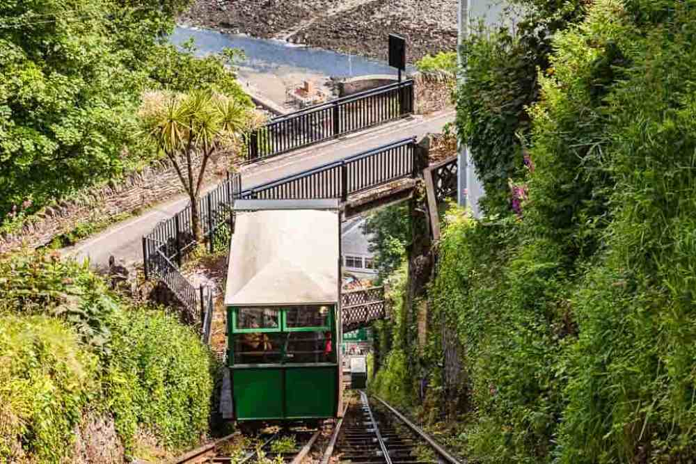 Funicular at Lynton and Lynmouth Devon