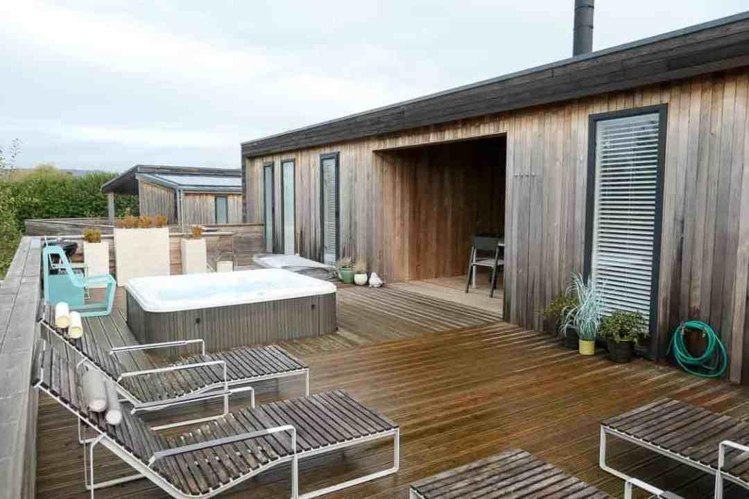 deck area at Strawberryfield Park, Somerset