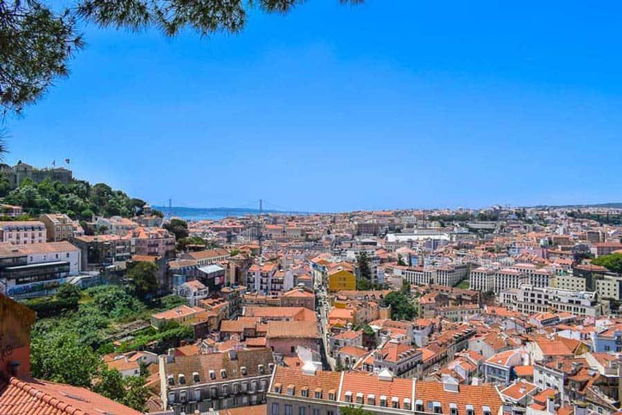Lisbon Miradouro from Sao Jorge Castle