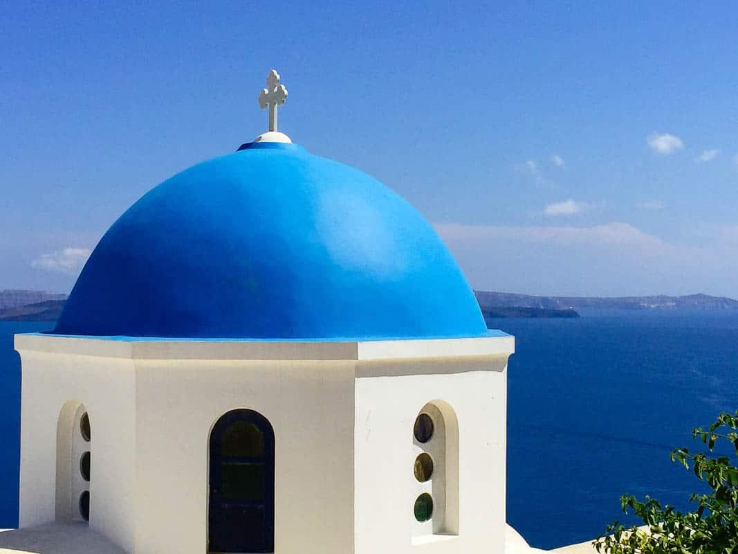 Blue Domed Church, Santorini