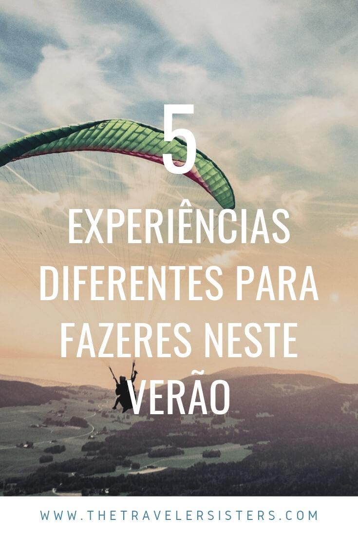 5 experiências diferentes para fazeres neste verão