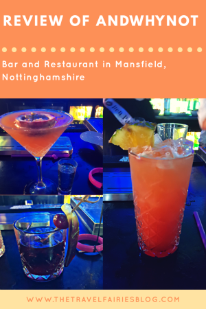 Review of andwhynot bar and restaurant in Mansfield, Nottinghamshire #review #restaurant