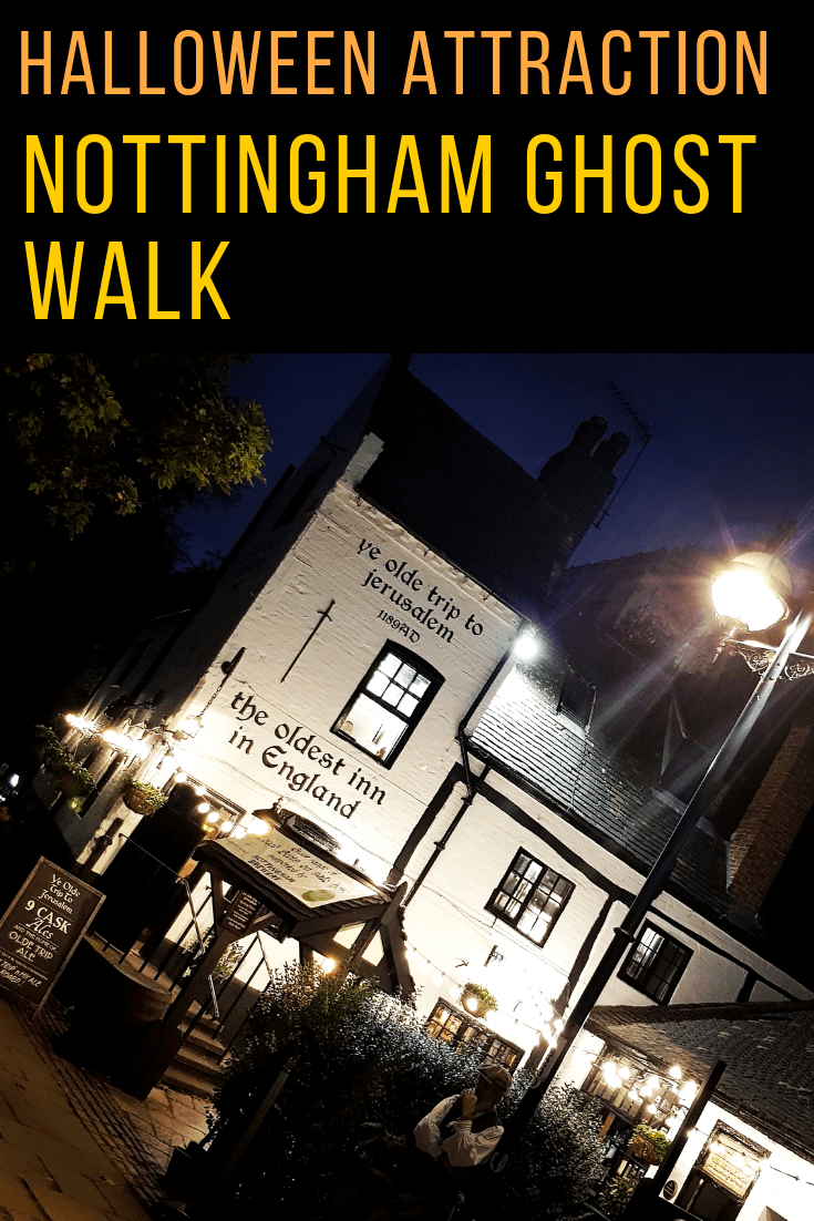 Review of the Nottingham Ghost Walk, the perfect Halloween attraction. #ghostwalk #halloween #nottingham #uk