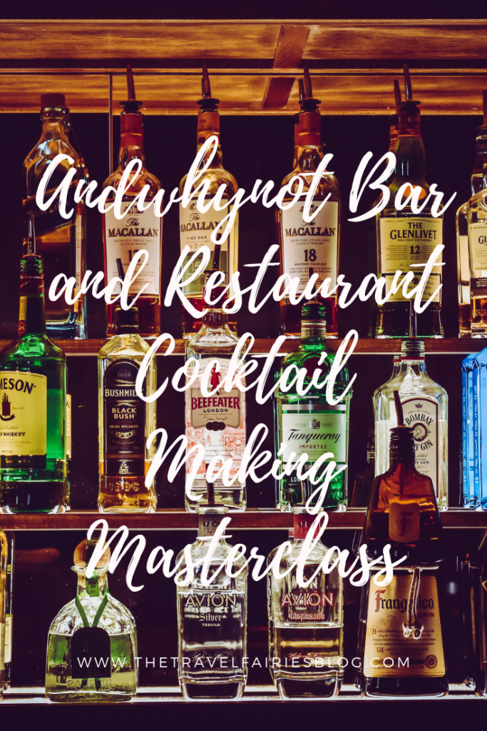 Review of andwhynot bar and restaurant in Mansfield, Nottinghamshire | cocktail making class perfect for parties, girls night and hen dos | learn to make your favourite alcoholic drinks at Andwhynot cocktail bar Mansfield, England #europetravel #foodanddrink #cocktails
