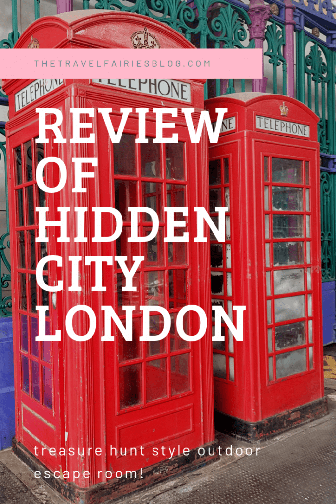 Hidden City is a treasure hunt style outdoor escape game in London, Europe | Unique things to do in London on your next trip to England | Fantasy adventure scavenger hunt around London city perfect for group travel, hen dos or couple trips #escapegame #london #europetravel