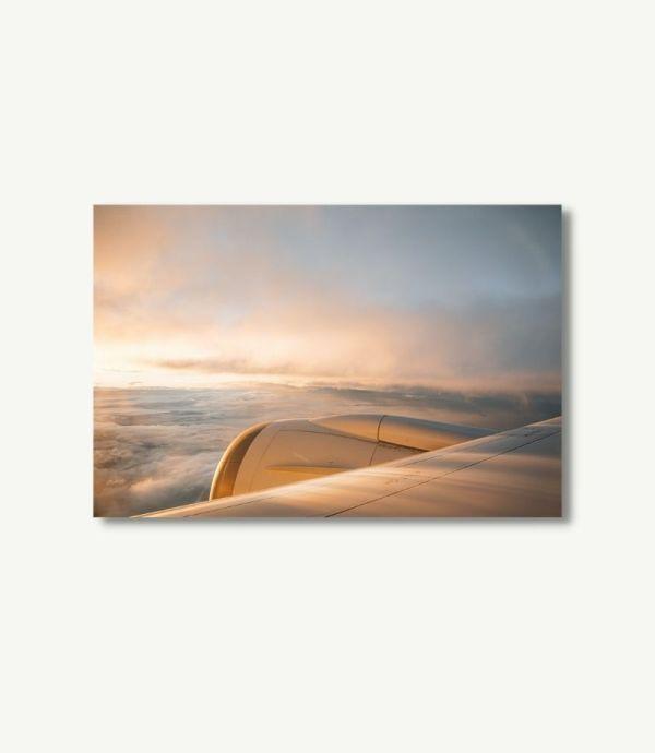 Sonnenuntergang Boeing 787 Poster