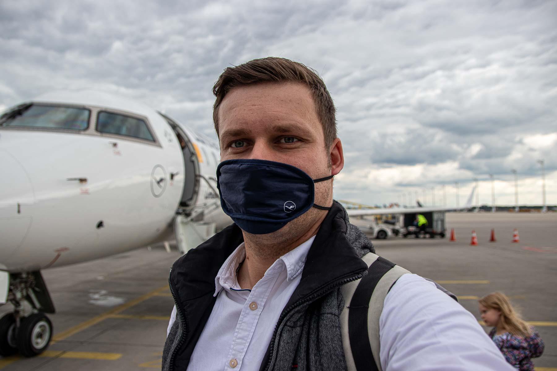 Fliegen während Corona mit Lufthansa Flughafen München-10