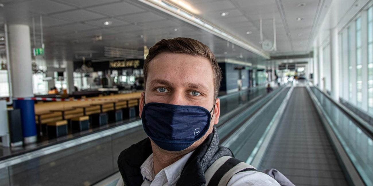 Fliegen während Corona mit Lufthansa Flughafen München-7