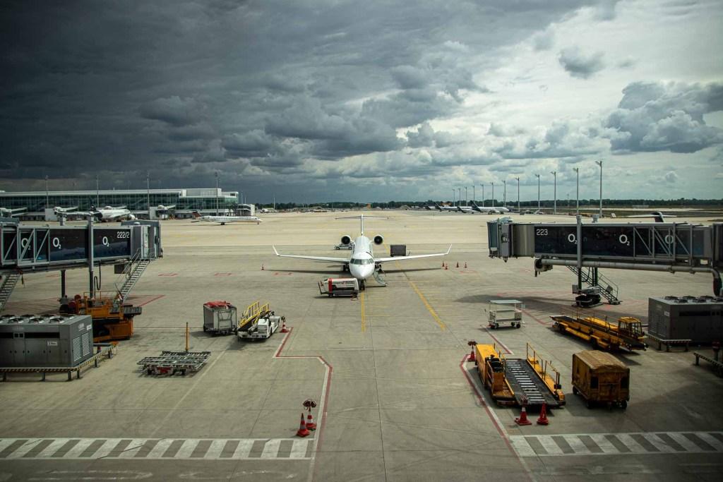 Fliegen während Corona mit Lufthansa Flughafen München-8