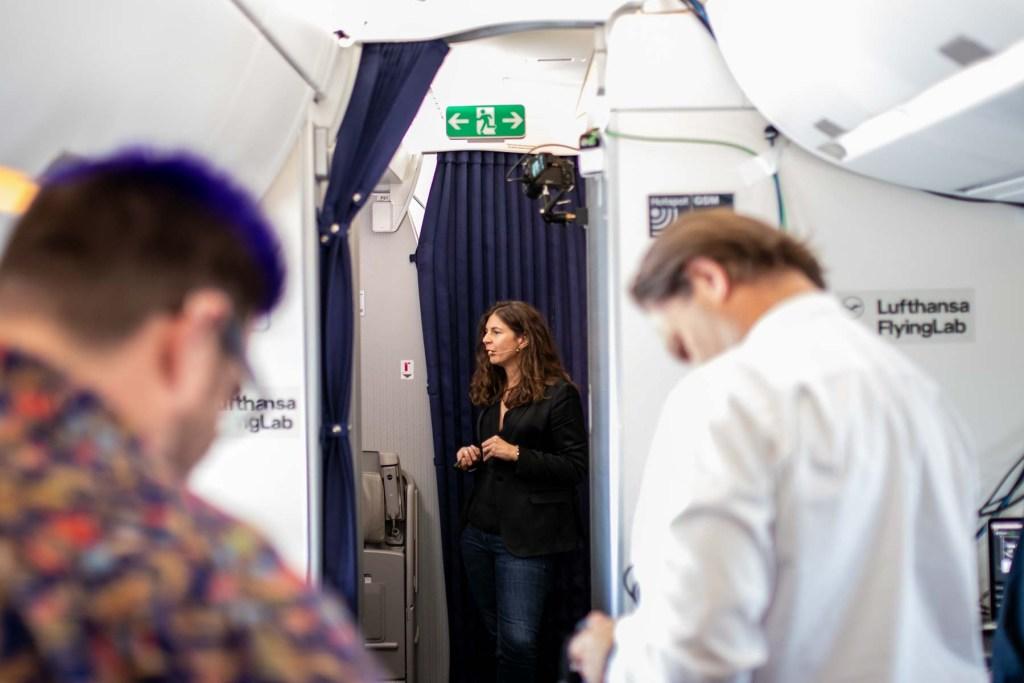 Lufthansa FlyingLab APEX Expo Boston Anaïs Marzo Airbus