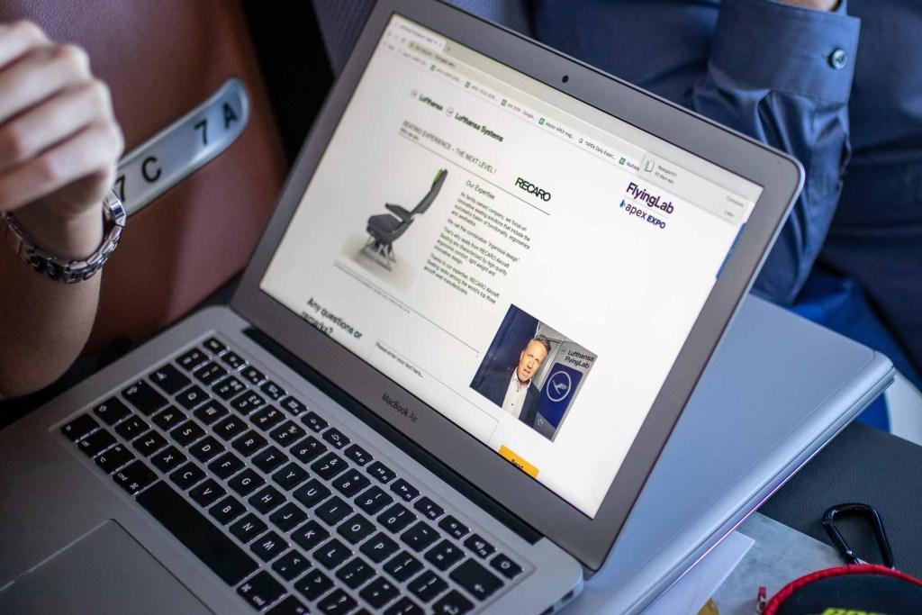 Lufthansa FlyingLab APEX Expo Boston Klaus Steinmeyer Recaor