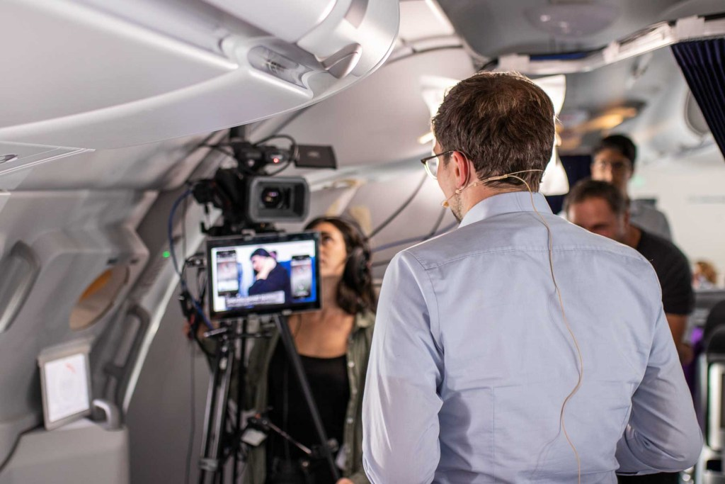 Lufthansa FlyingLab Los Angeles Airbus A380 Inflight Conference-2
