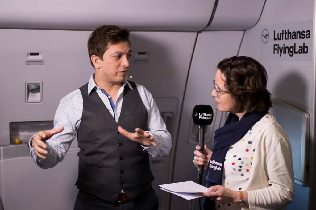 Lufthansa FlyingLab SXSW Upen Barve SAP Interview Varinia Bernau