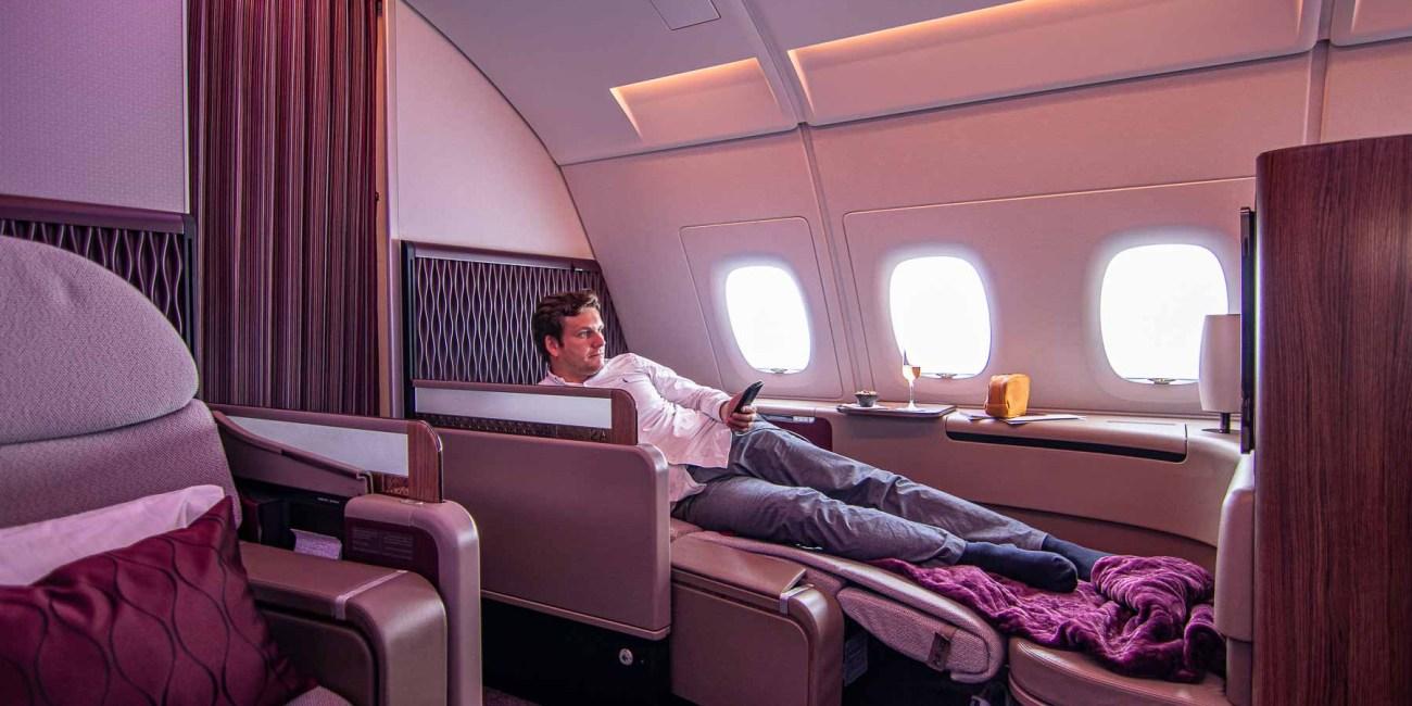 Qatar Airways A380 First Class Annehmlichkeiten-6