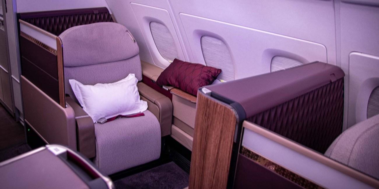 Qatar Airways A380 First Class Sitz