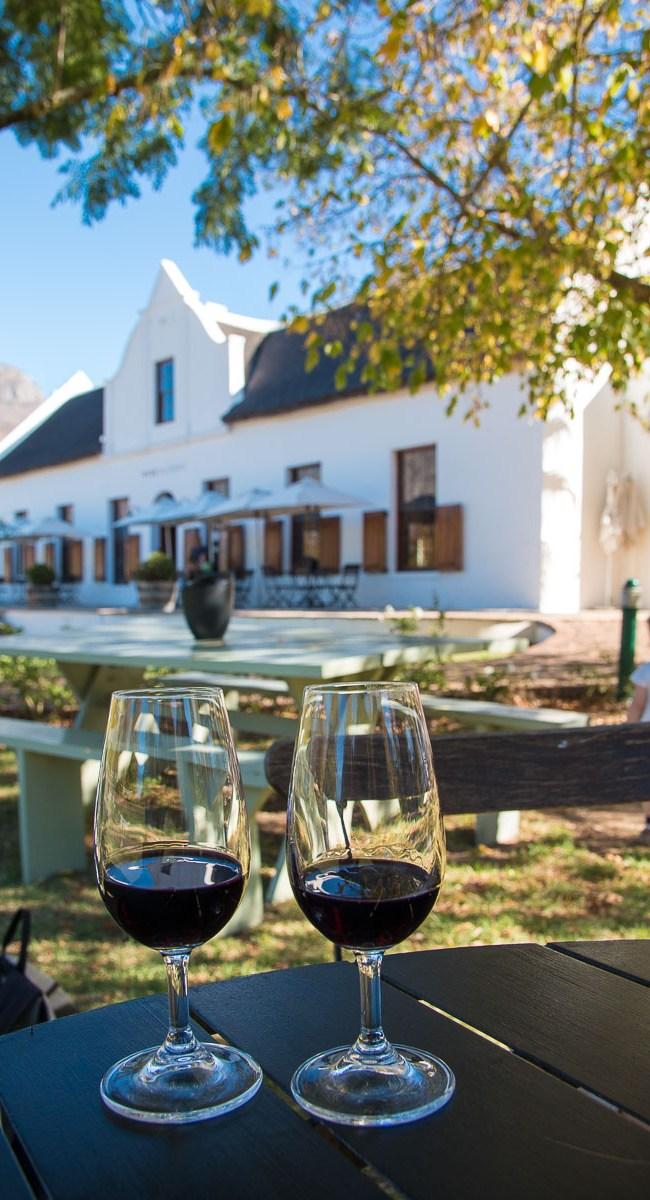 Winetasting Banhoek Valley Zorgvliet Winery
