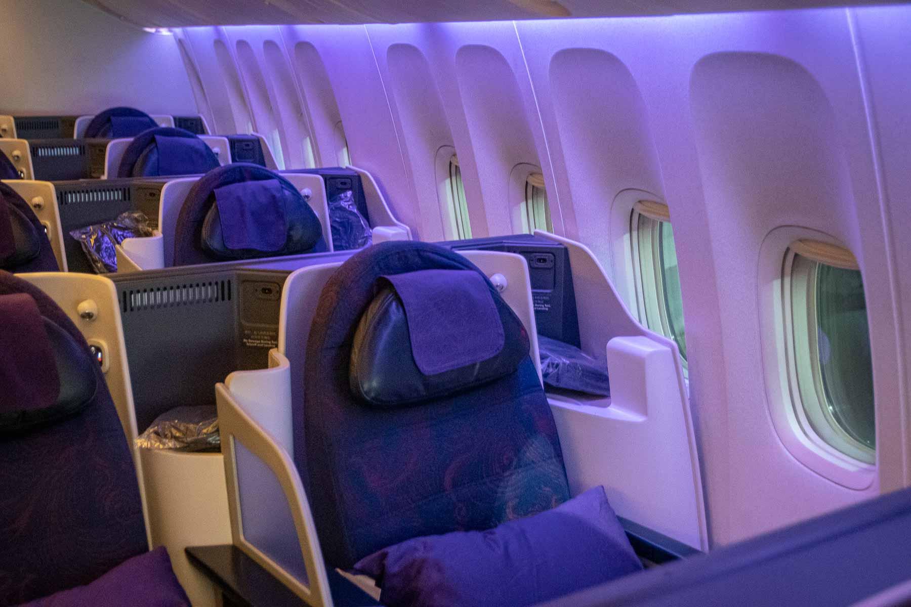 Air China Boeing 777 Business Class Kabine und Sitz