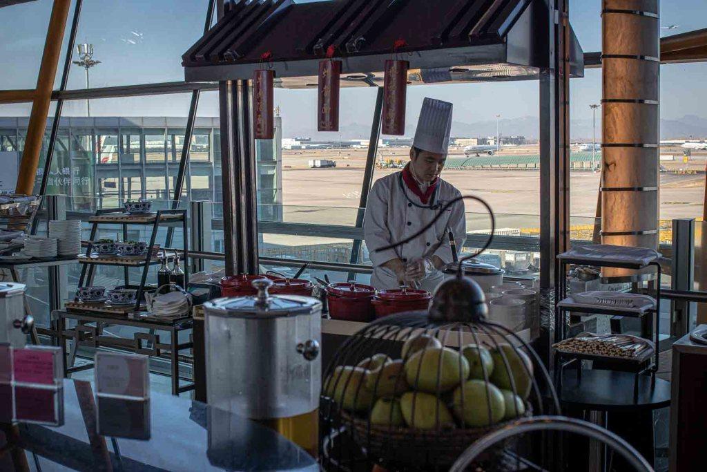 Air China First Class Lounge Essen und Trinken-2