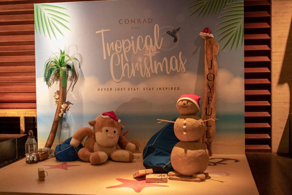 Conrad Bali Resort Weihnachten feiern unter Palmen