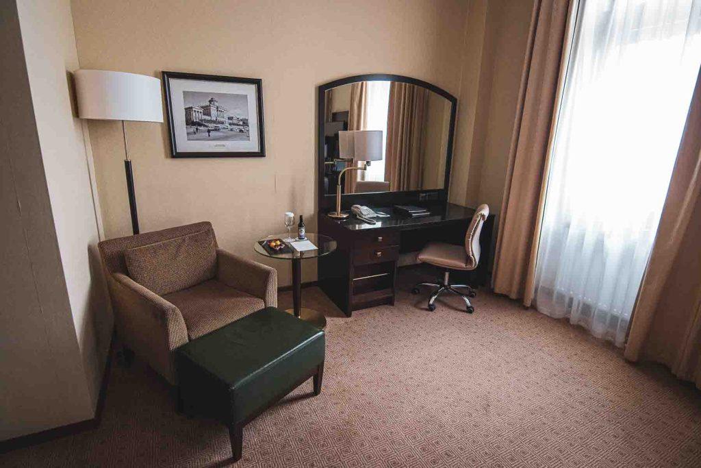 Hilton Moskau Leningradskaya Zimmer