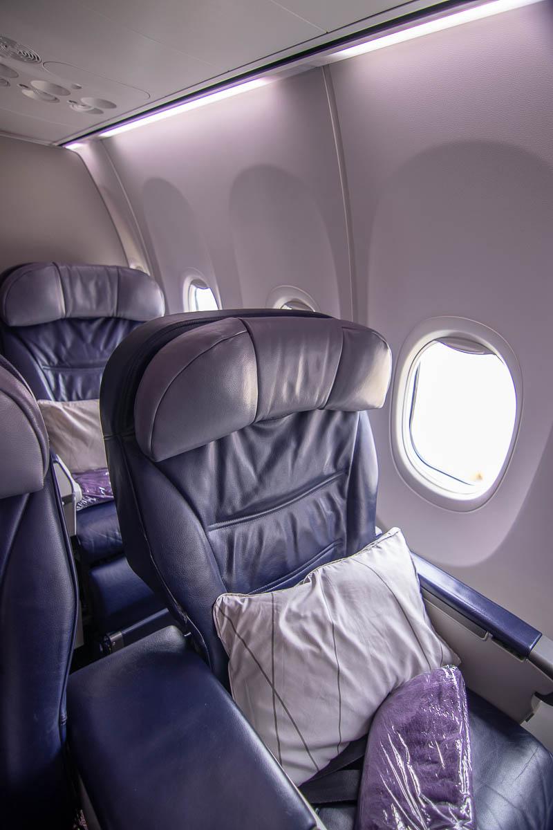 Malaysia Airlines Boeing 737 Business Class Sitz und Kabine-2
