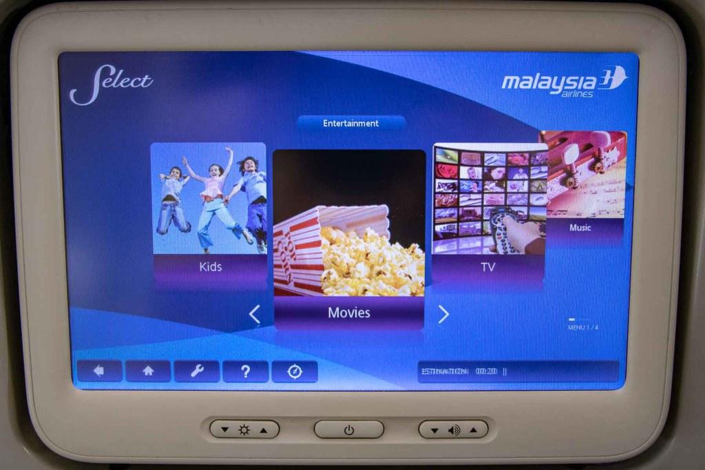 Malaysia Airlines Boeing 737 Business TV Programm Fernsehen-2