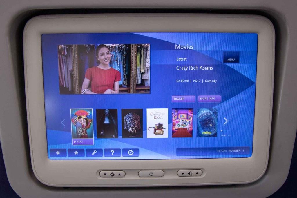Malaysia Airlines Boeing 737 Business TV Programm Fernsehen-3