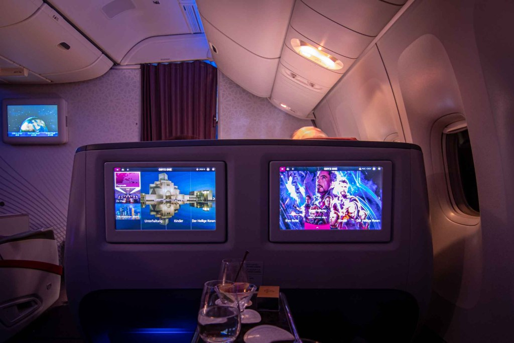 Qatar Airways Business Class Inflight Entertainment The Travel Happiness