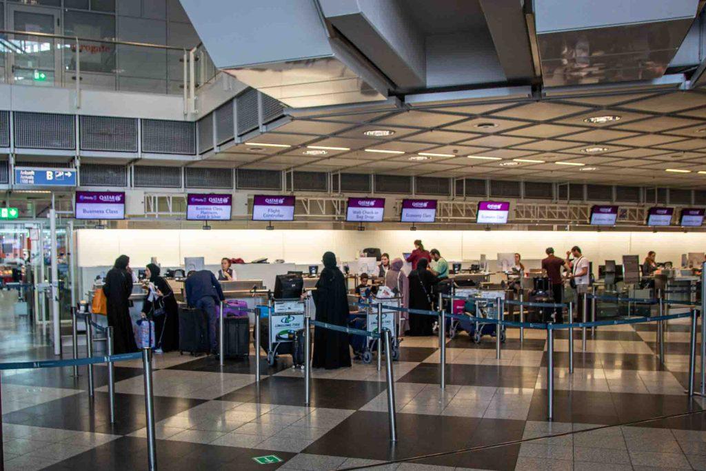 Qatar Airways Checkin Terminal 1 Flughafen München