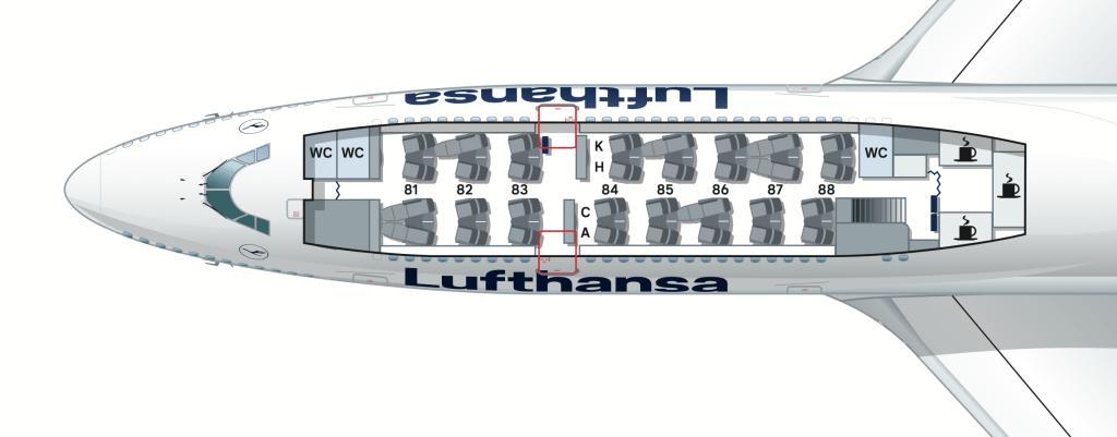 Lufthansa Boeing 747-8 Business Class Upper Deck