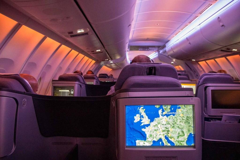 Lufthansa Boeing 747-8 Business Class