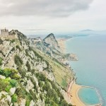 The Mediterranean Sea from the top of Gibraltar