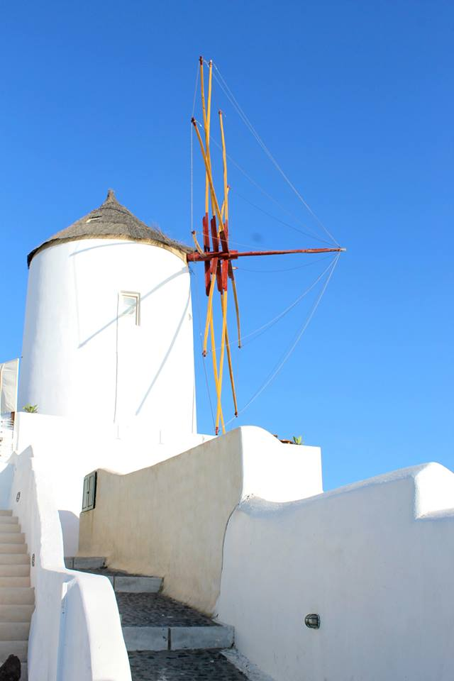 A windmill in Oia
