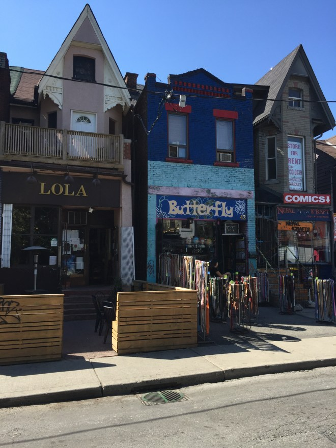 Beautiful buildings in Kensington Market
