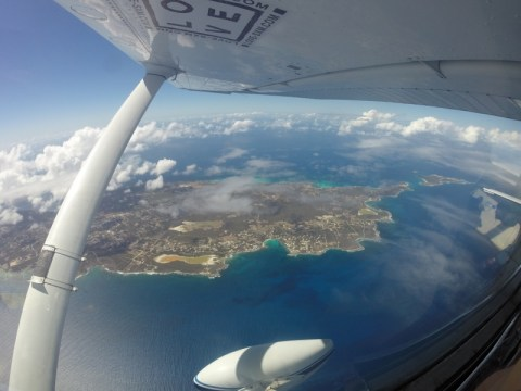 St.Maarten in the distance
