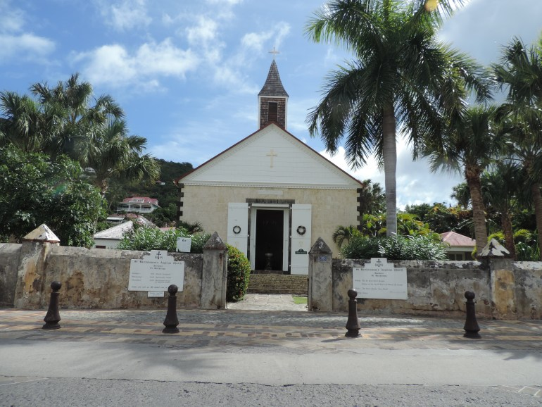 Old church in Gustavia