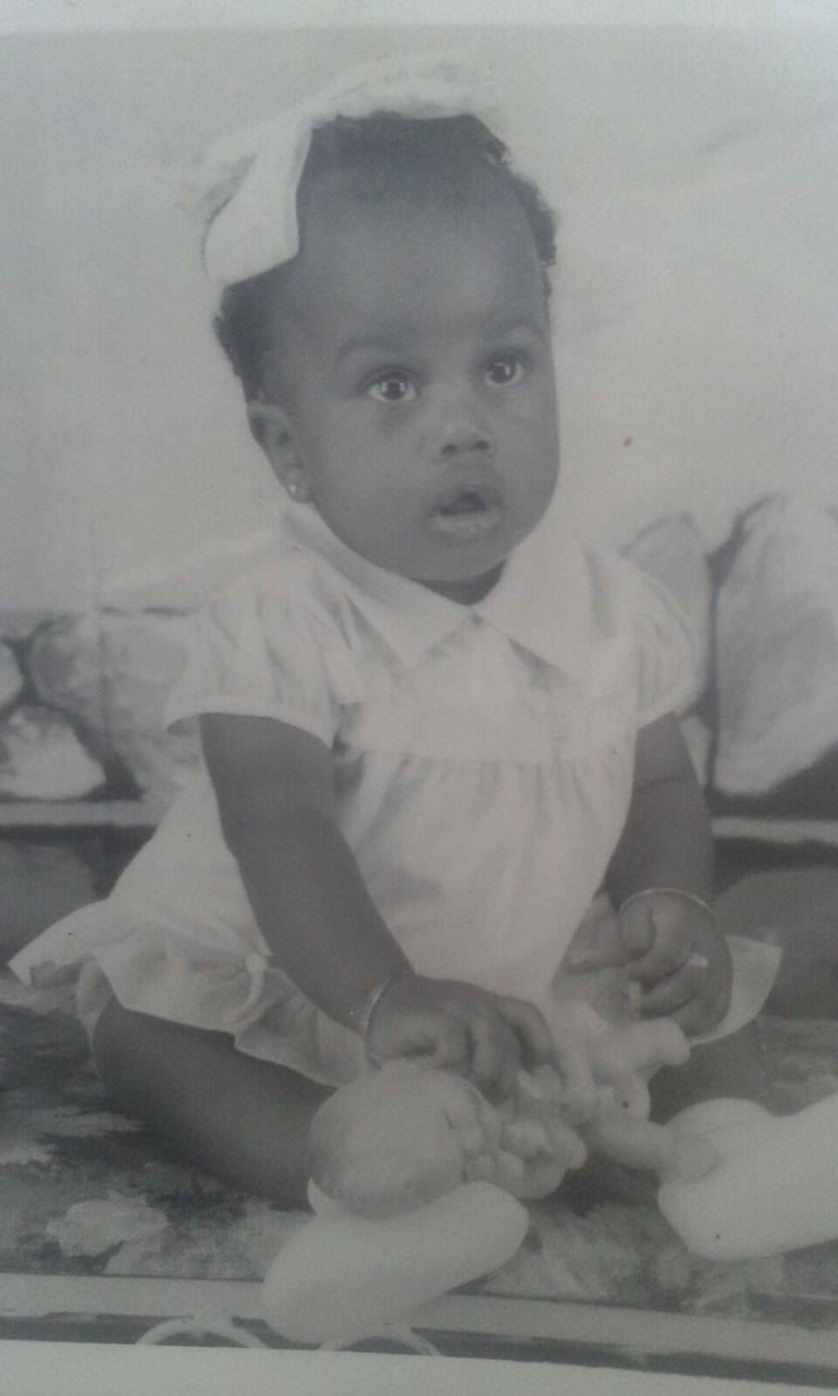 Tricia as a baby