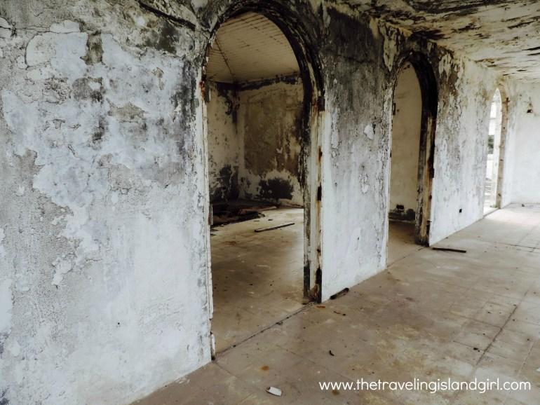 Remains of a prty villa
