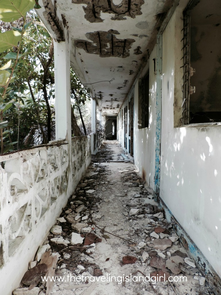 Ruins of an old Oyster Bay Resort