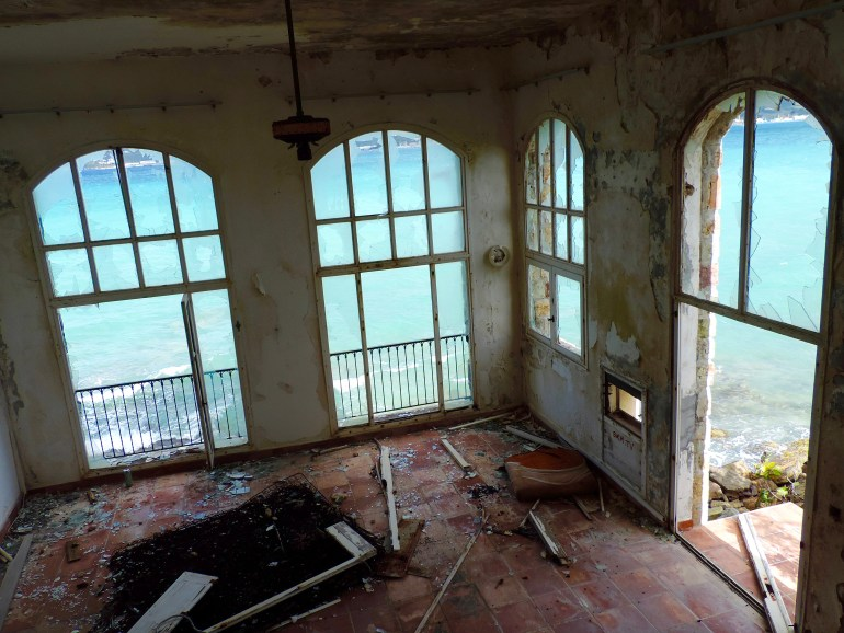 Abandoned ocean view suite