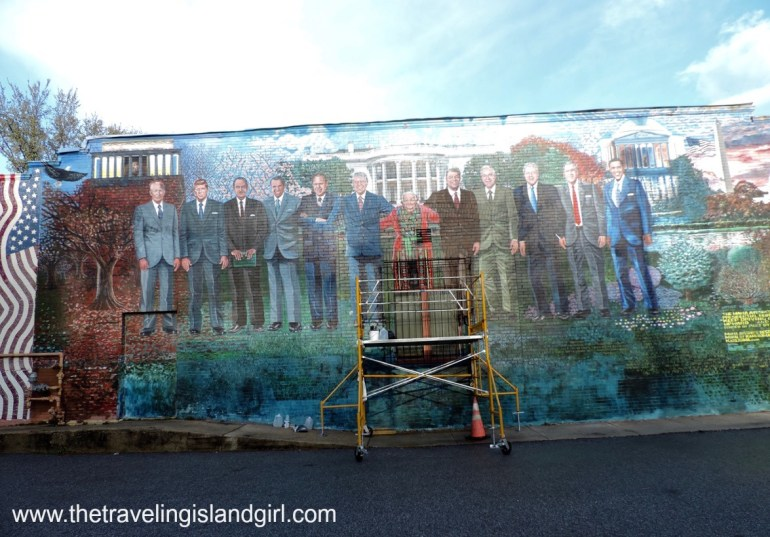 Presidents mural