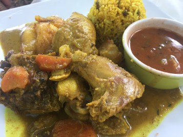 Creole curry chicken