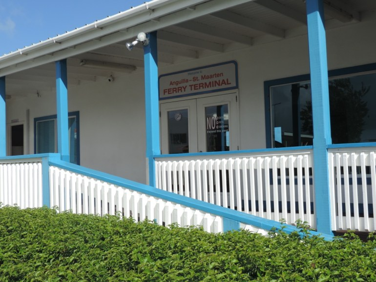 The Anguilla Ferry Terminal by the airport