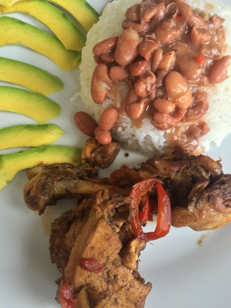 Traditional Dominican plate
