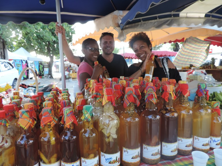 Flavored rum at St. Anne Market