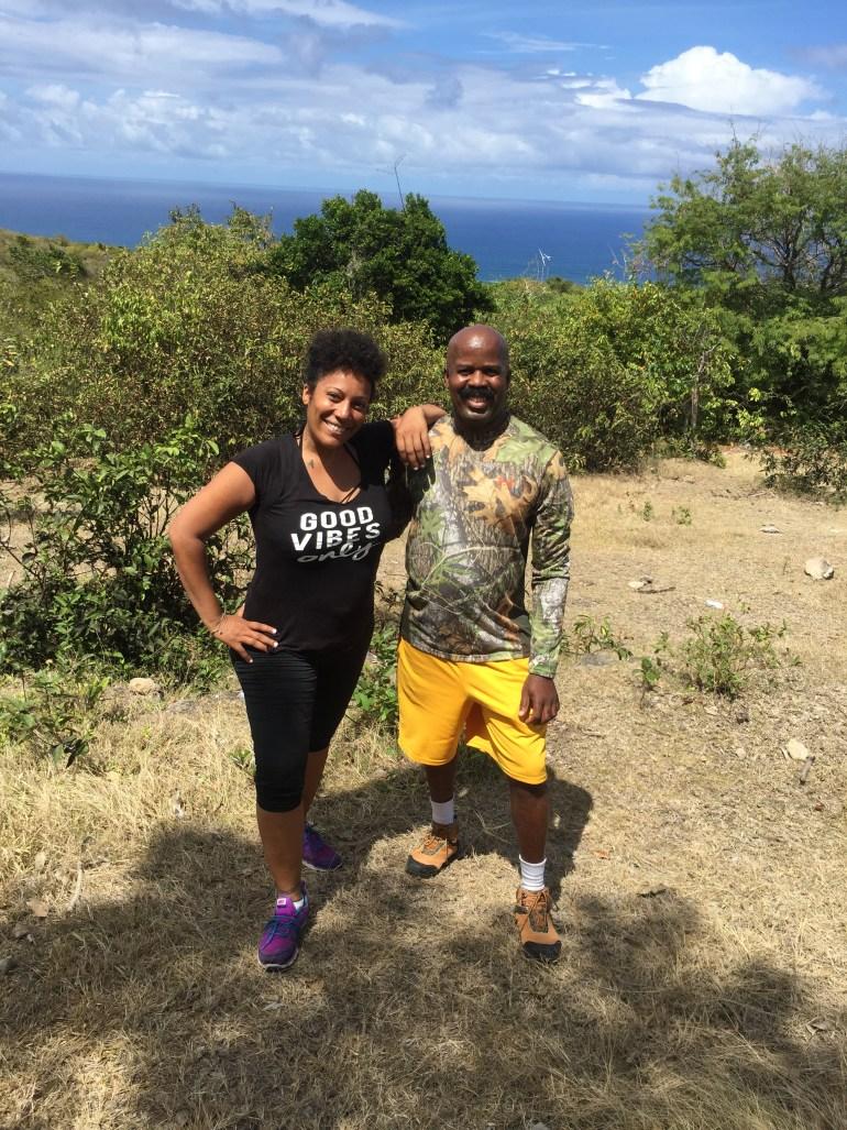 Hiking up to Nevis' 6 waterfalls